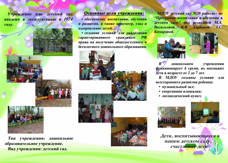 Детский сад конкурс визитка